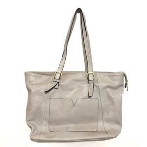 DONATE 1/11❗️Gray faux leather tote purse